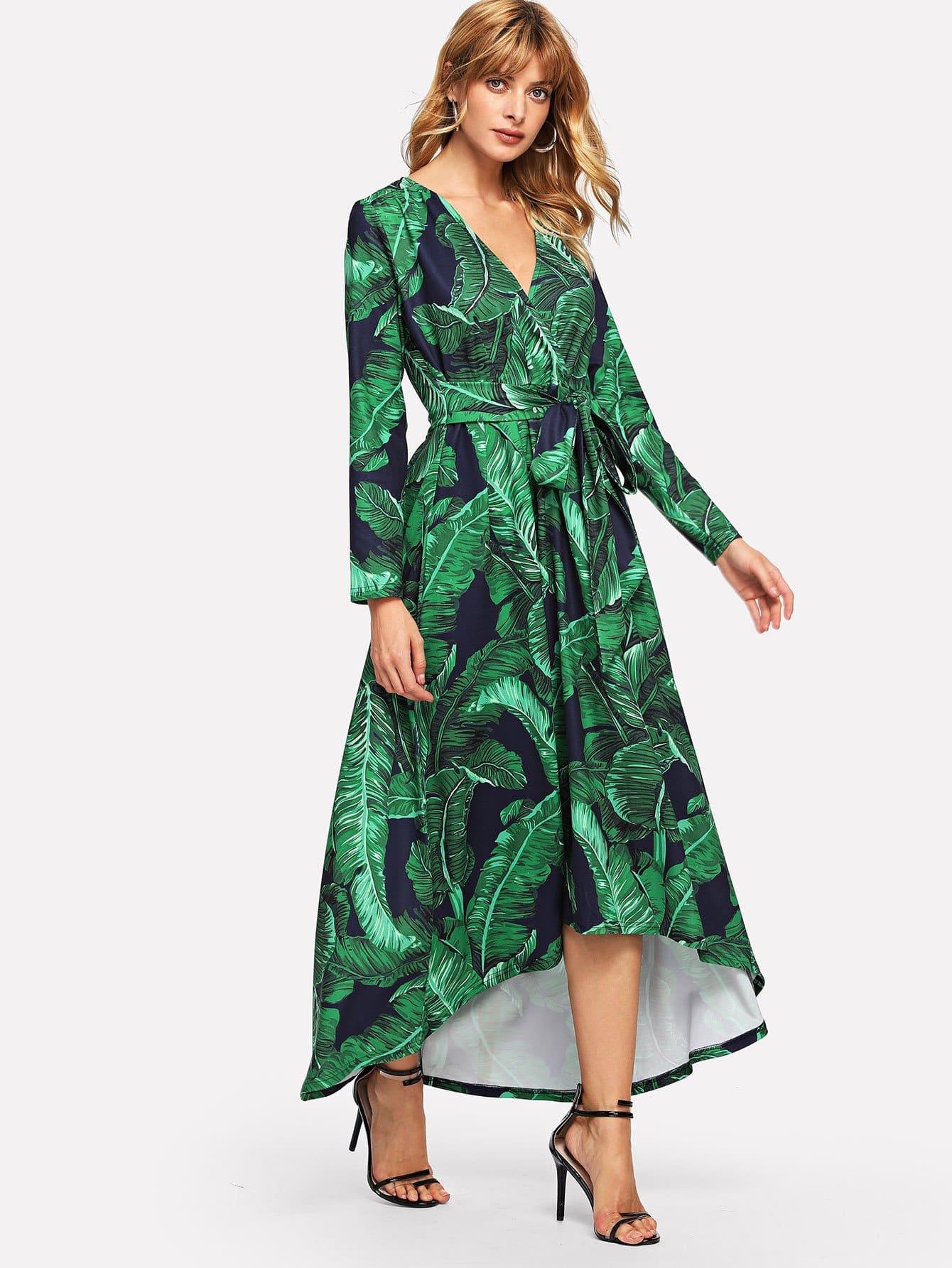 Купить Платье для обложки печатной ленты Palm Leaf, Masha, SheIn