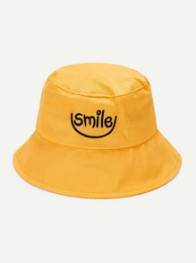 Embroidered Letter Bucket Hat