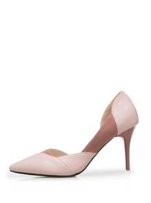 Suede Panel Stiletto Heels