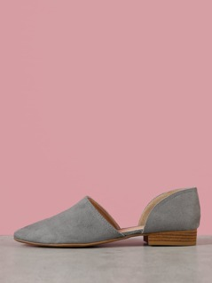 Pointy Toe Two Piece D orsay Flat Shooties