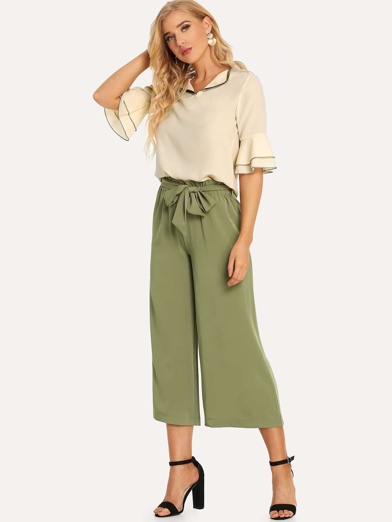 Купить Повседневный стиль Ровный цвет Пояс Многоцветный Комплект, SUSU, SheIn