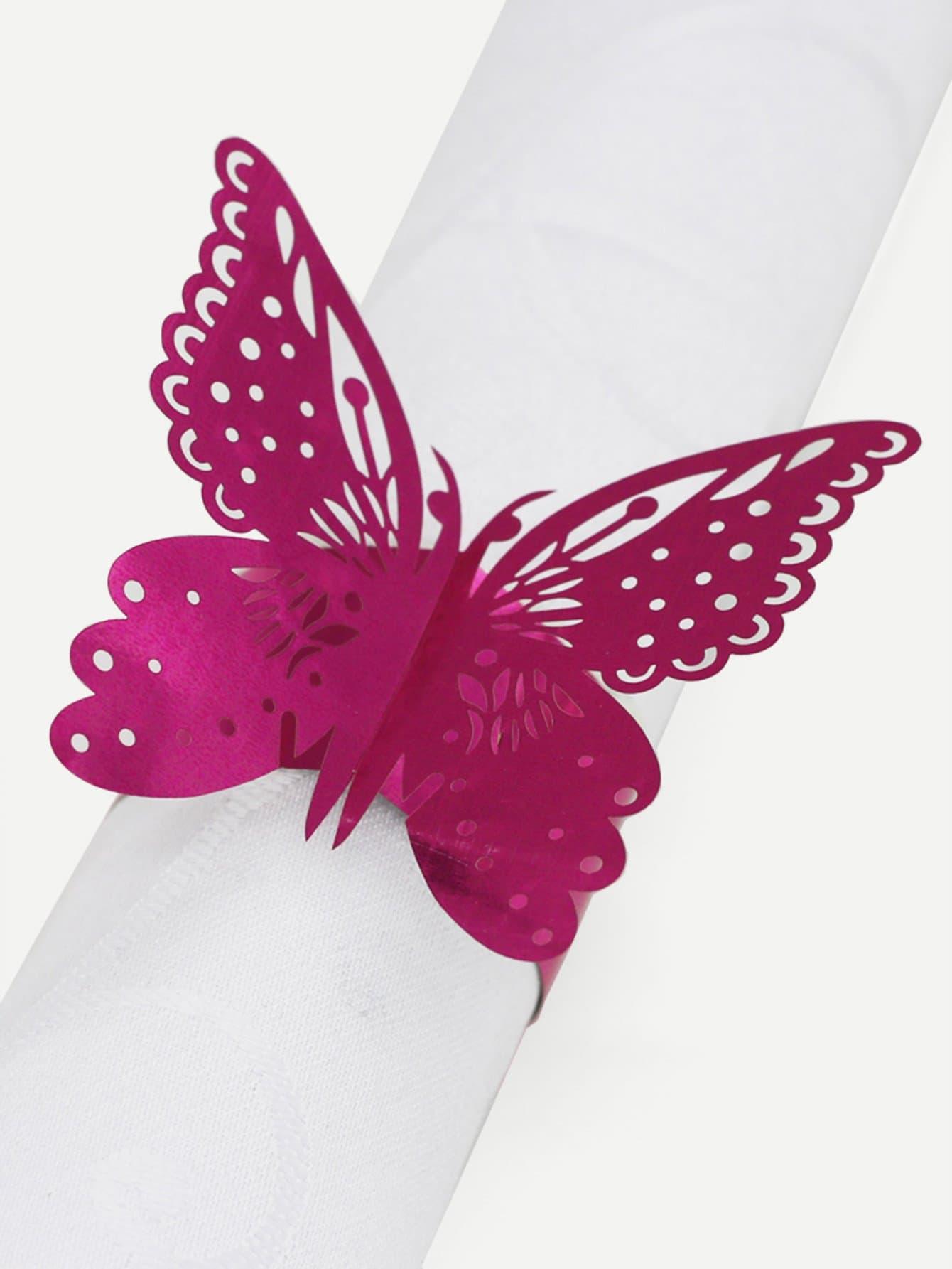 Купить Вырезная кольцо для бумаги и с украшением бабочки 25 шт, null, SheIn