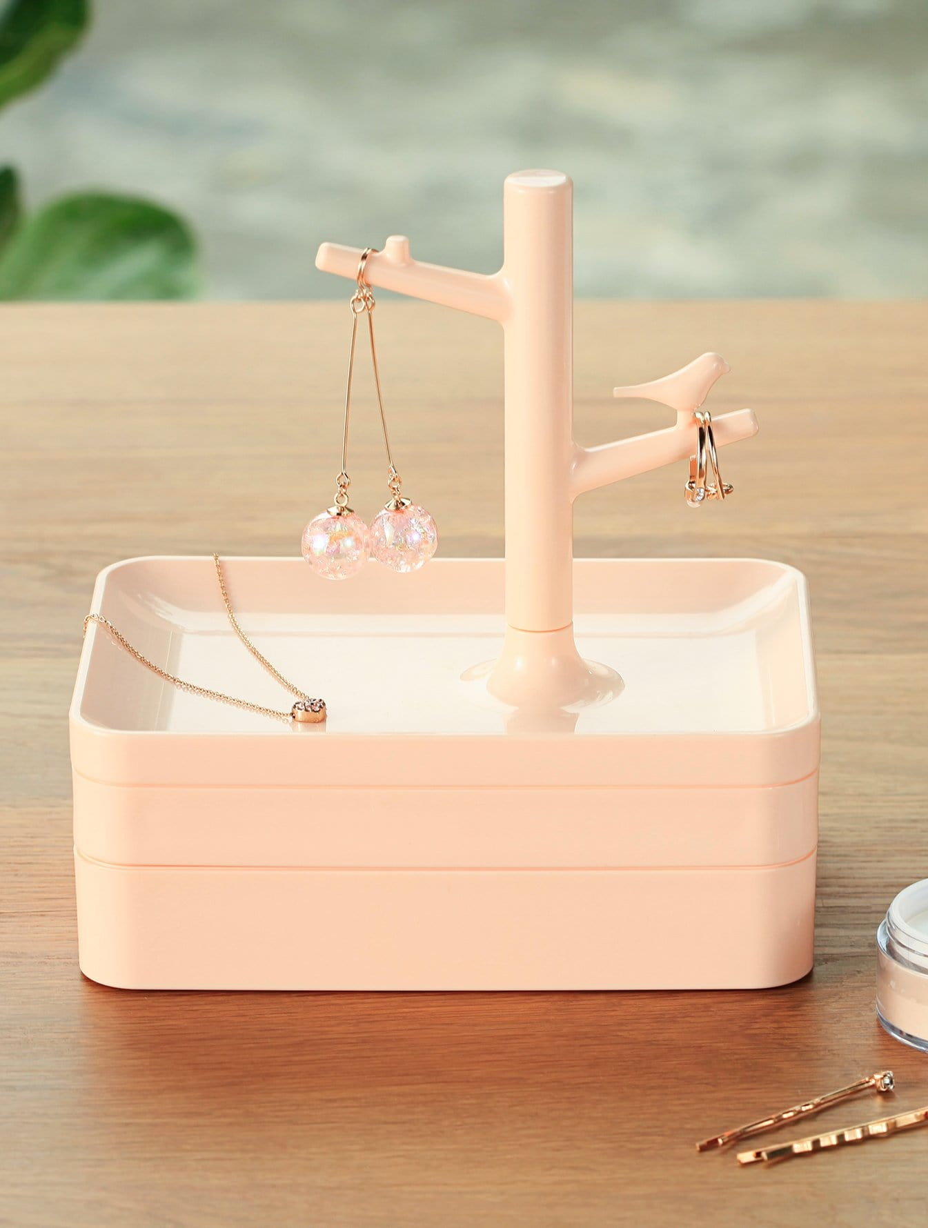 3 Layered Jewelry Storage Box With Branch 3 drawer stylish craft paper storage box with 3 inside pockets for office file jewelry cd bill photo organizing desk set
