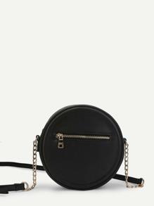 Round Zipper Crossbody Bag