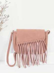 Fringe Flap Crossbody Bag