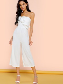 Strapless Ruffle Jumpsuit