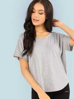 Double V Dolman Sleeve Tee