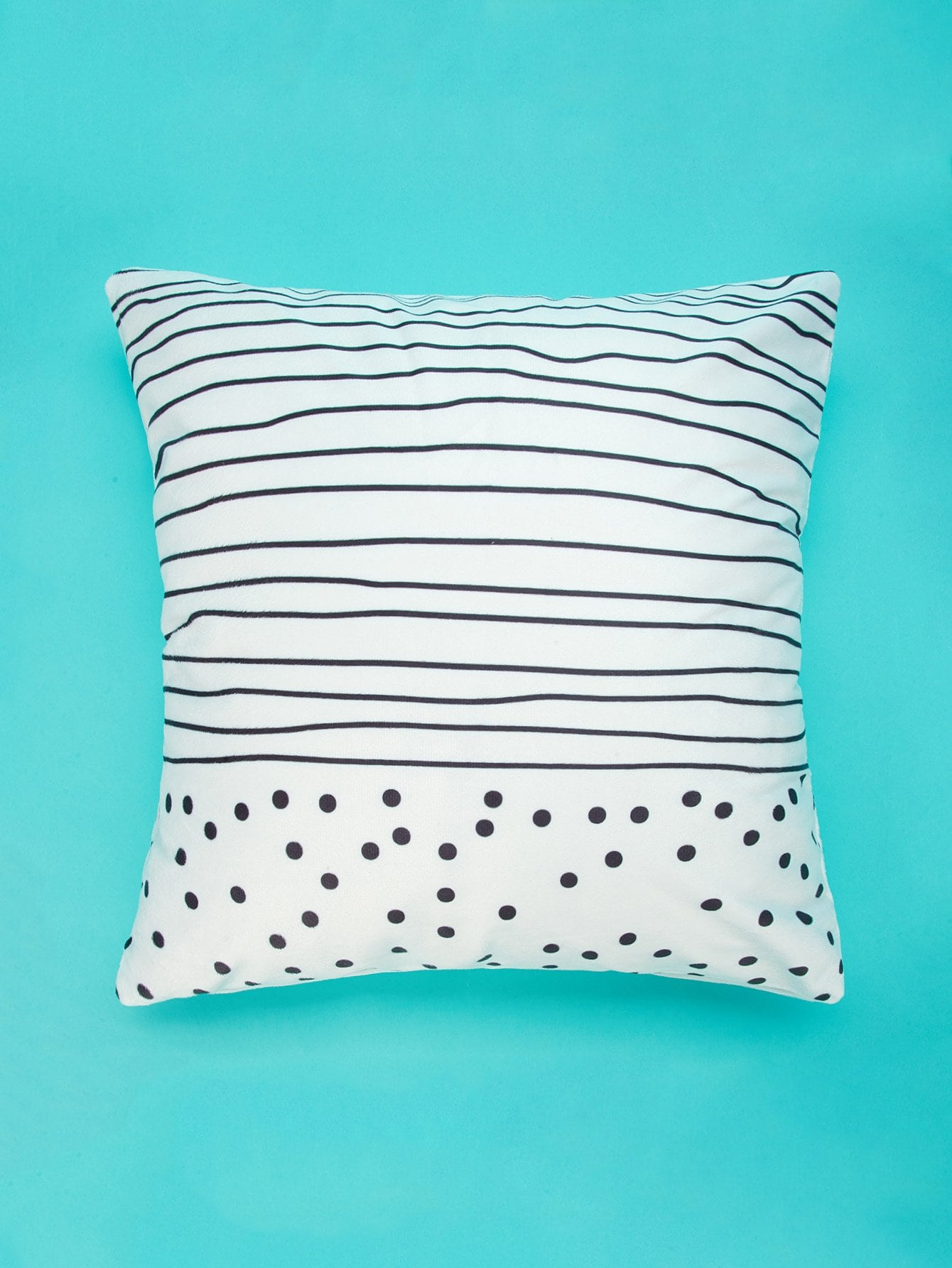 Striped & Polka Dot Print Pillowcase Cover 1PC