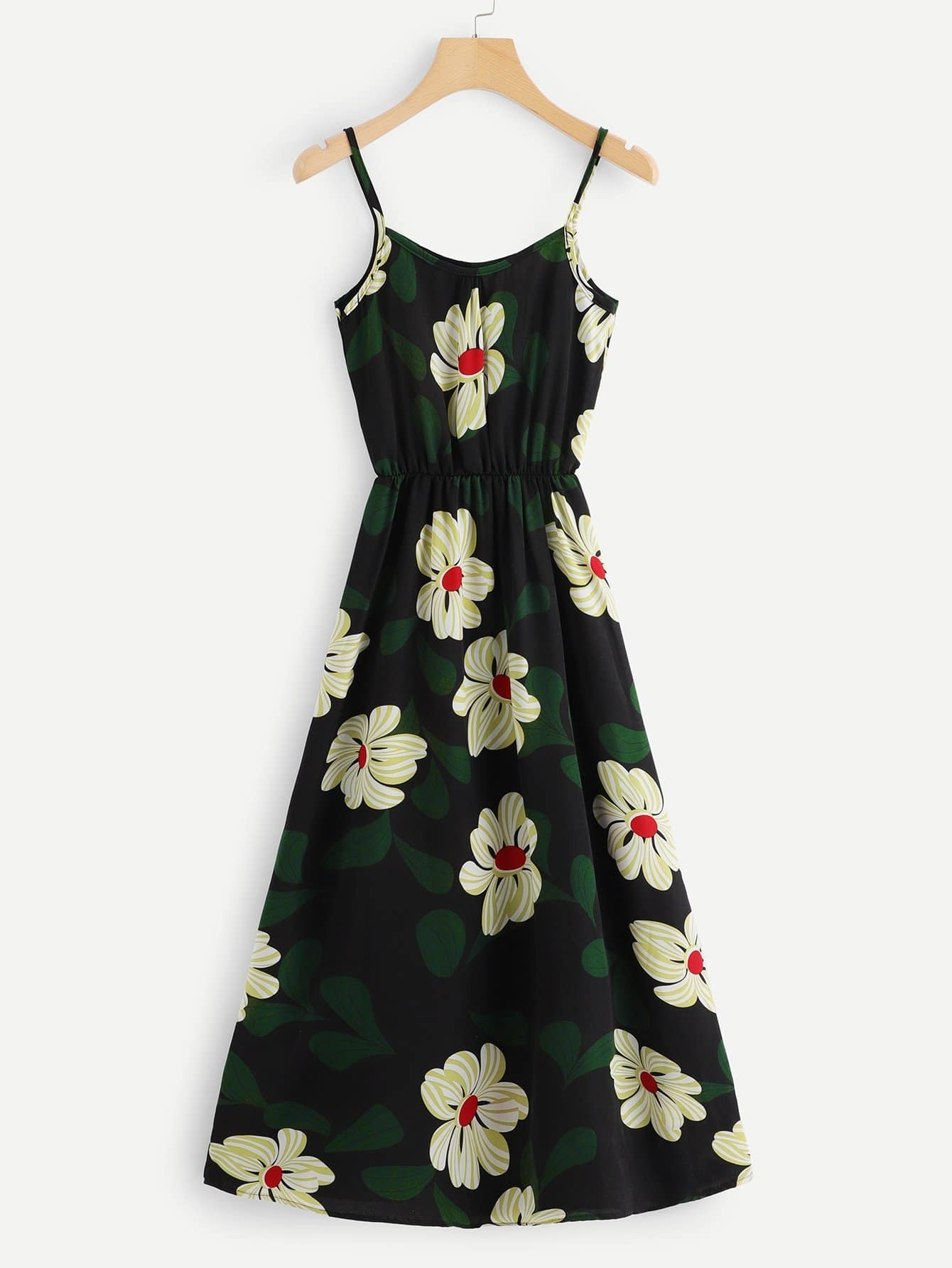 Купить Платье на бретелях и с рисунками цветов, null, SheIn