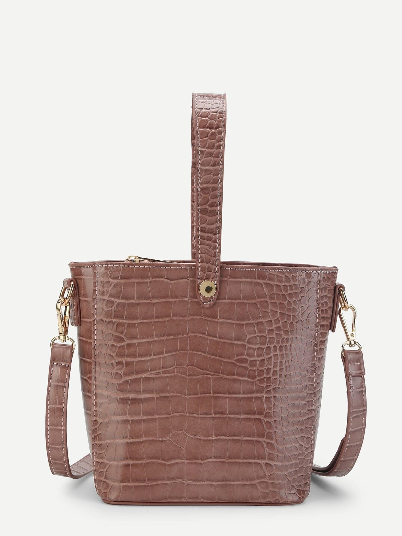 Crocodile Pattern Shoulder Bag luxurious crocodile pattern shoulder bag 100