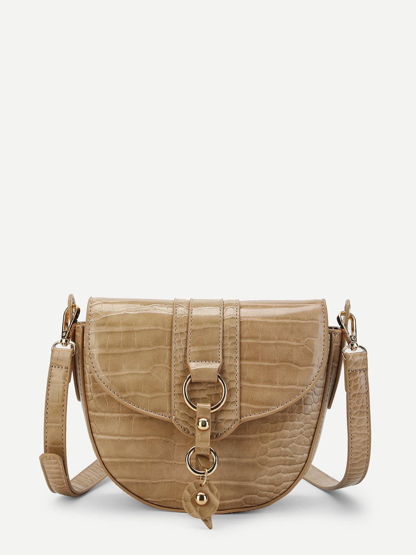 все цены на Crocodile Pattern Saddle Bag онлайн