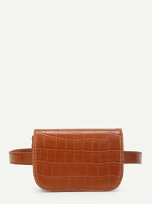 Crocodile Pattern Bum Bag With Convertible Strap