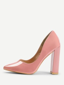 Patent Leather Chunky Heels