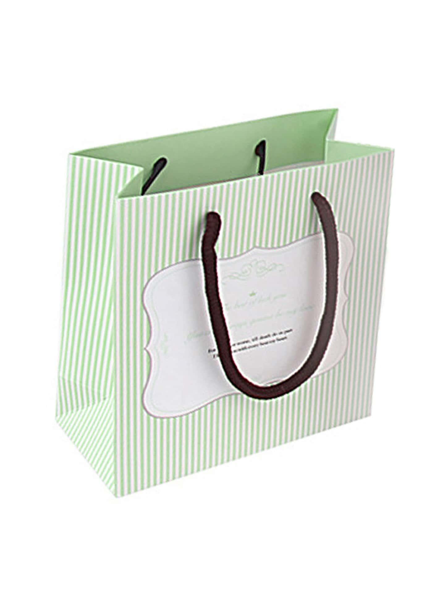Stripe Pattern Paper Bag