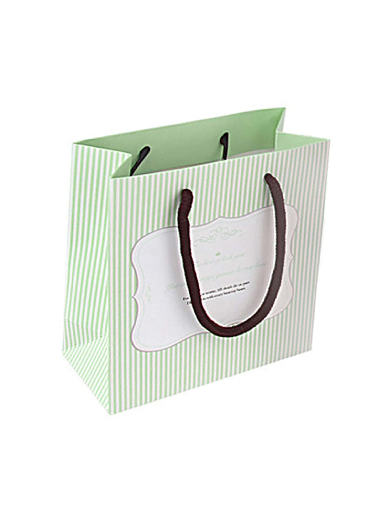 Small Stripe Pattern Paper Bag