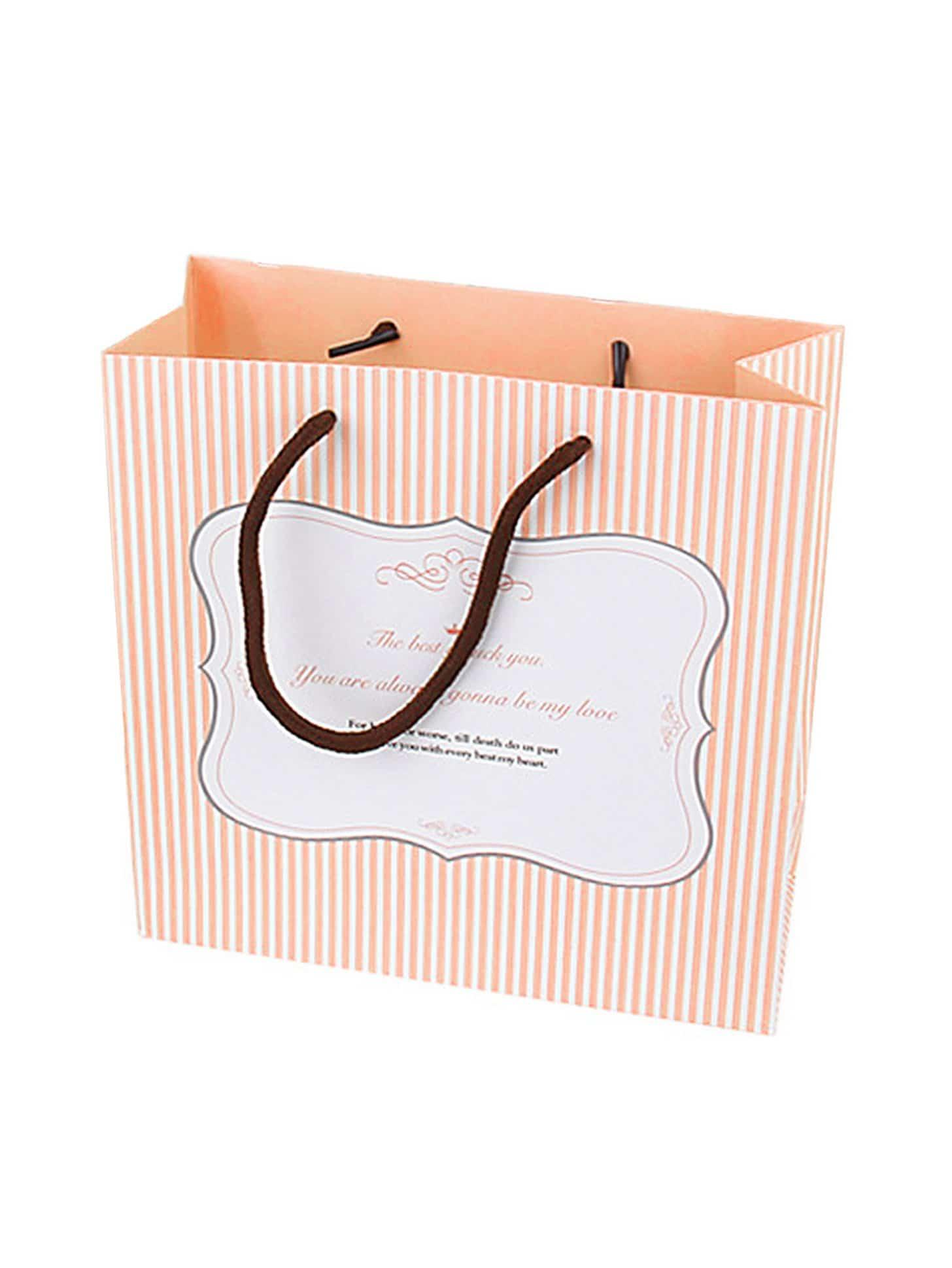 Medium Stripe Pattern Paper Bag