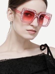 Rhinestone Decorated Sunglasses