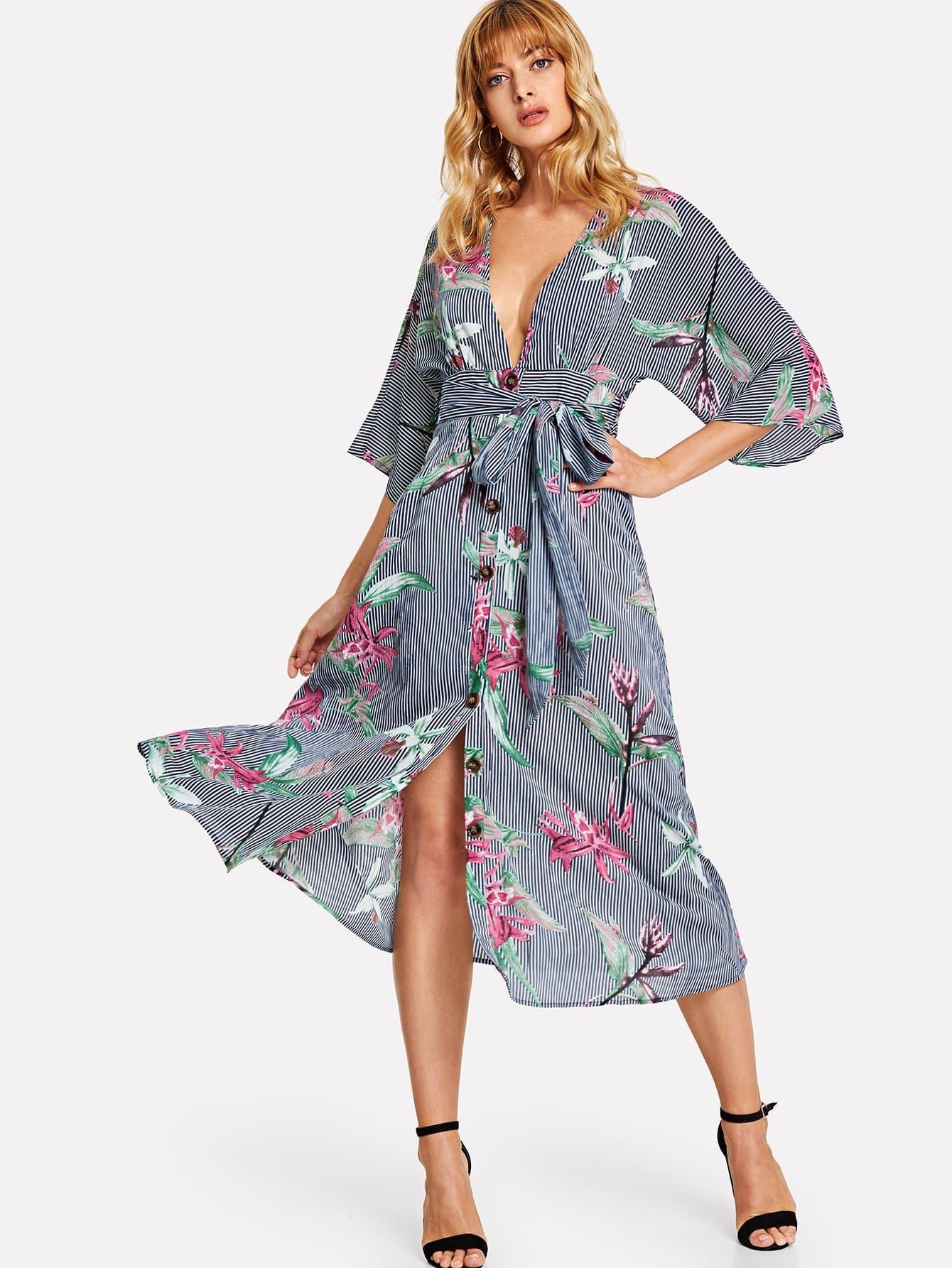 Купить Платье с надписью из плотной печати, Masha, SheIn