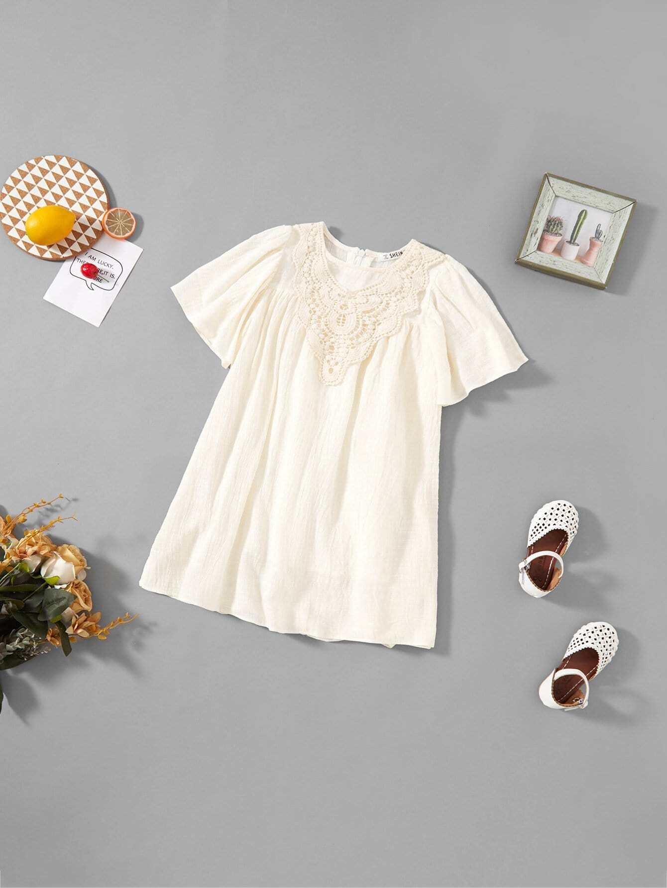 Купить Платье вечернее из атласа для девочек, null, SheIn