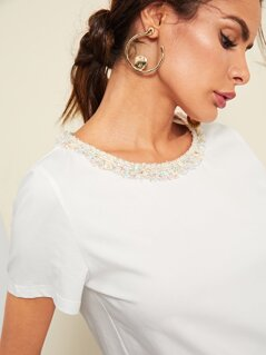 Frayed Neck T-shirt