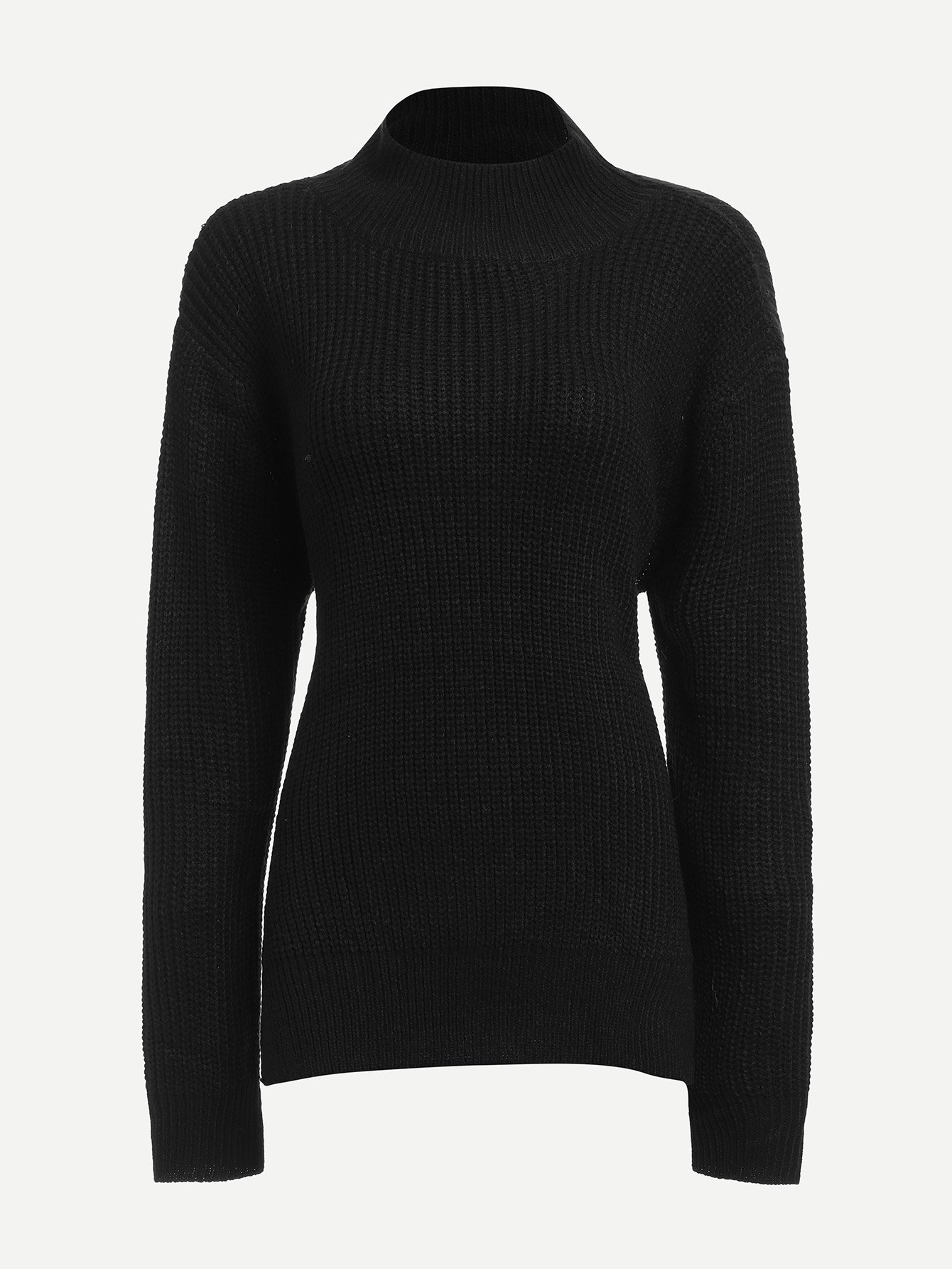 Knot Open Back Slim Fitted Jumper
