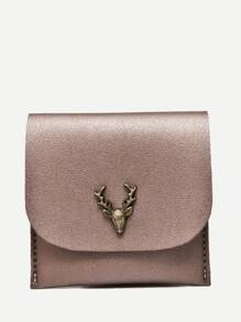 Metal Deer PU Wallet