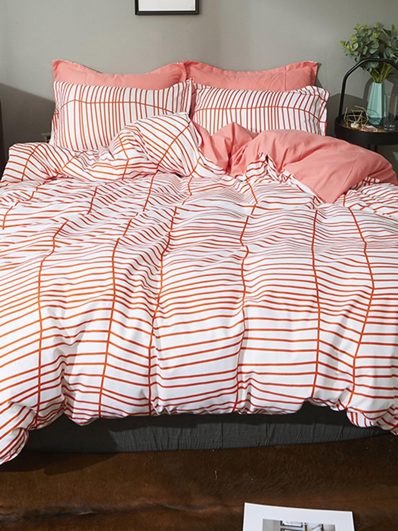 Striped Duvet Cover Set striped minimalist duvet cover set