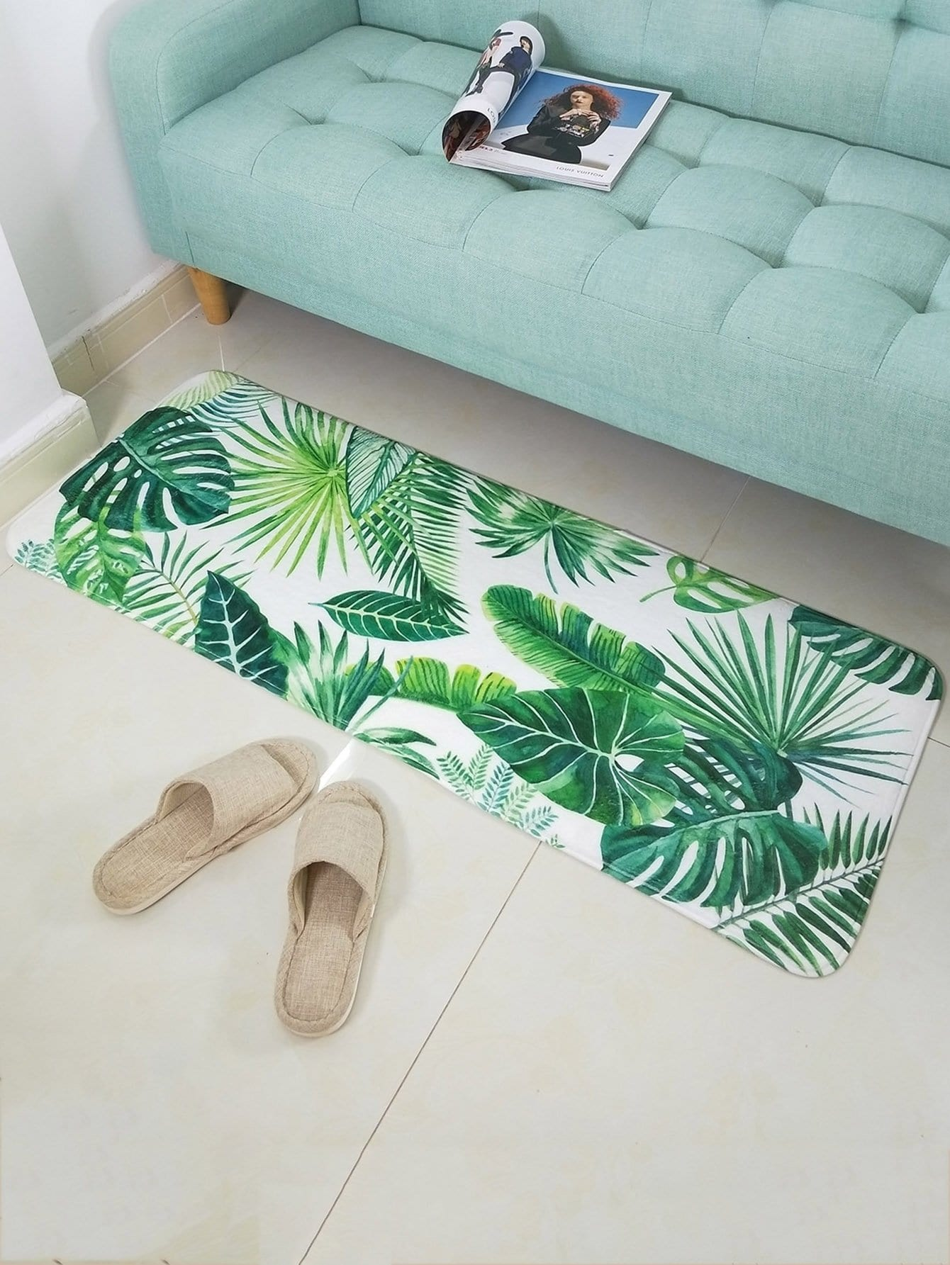 Tropical Leaf Printed Mat