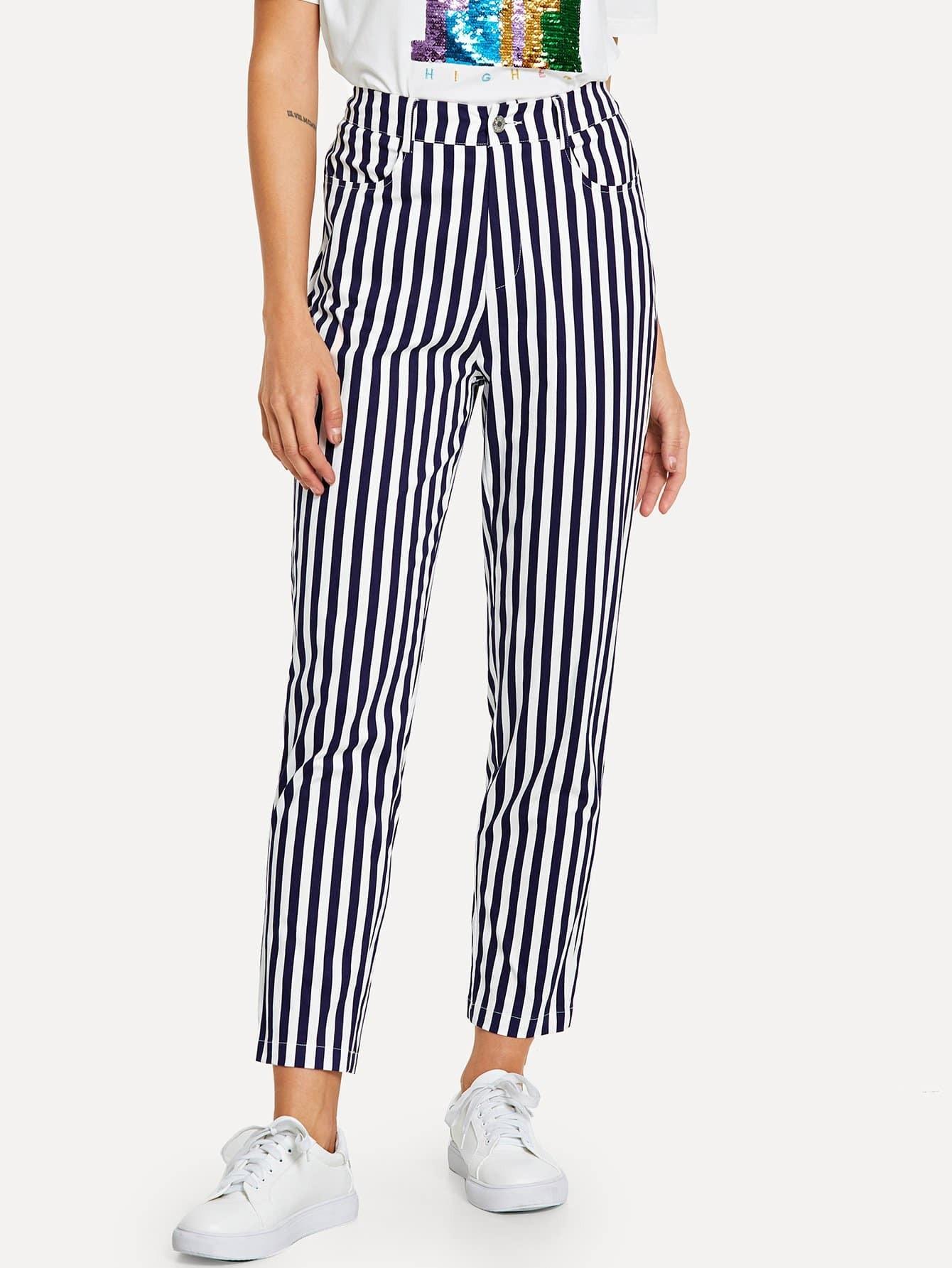 Купить Бумажные полосатые штаны для печати, Masha, SheIn