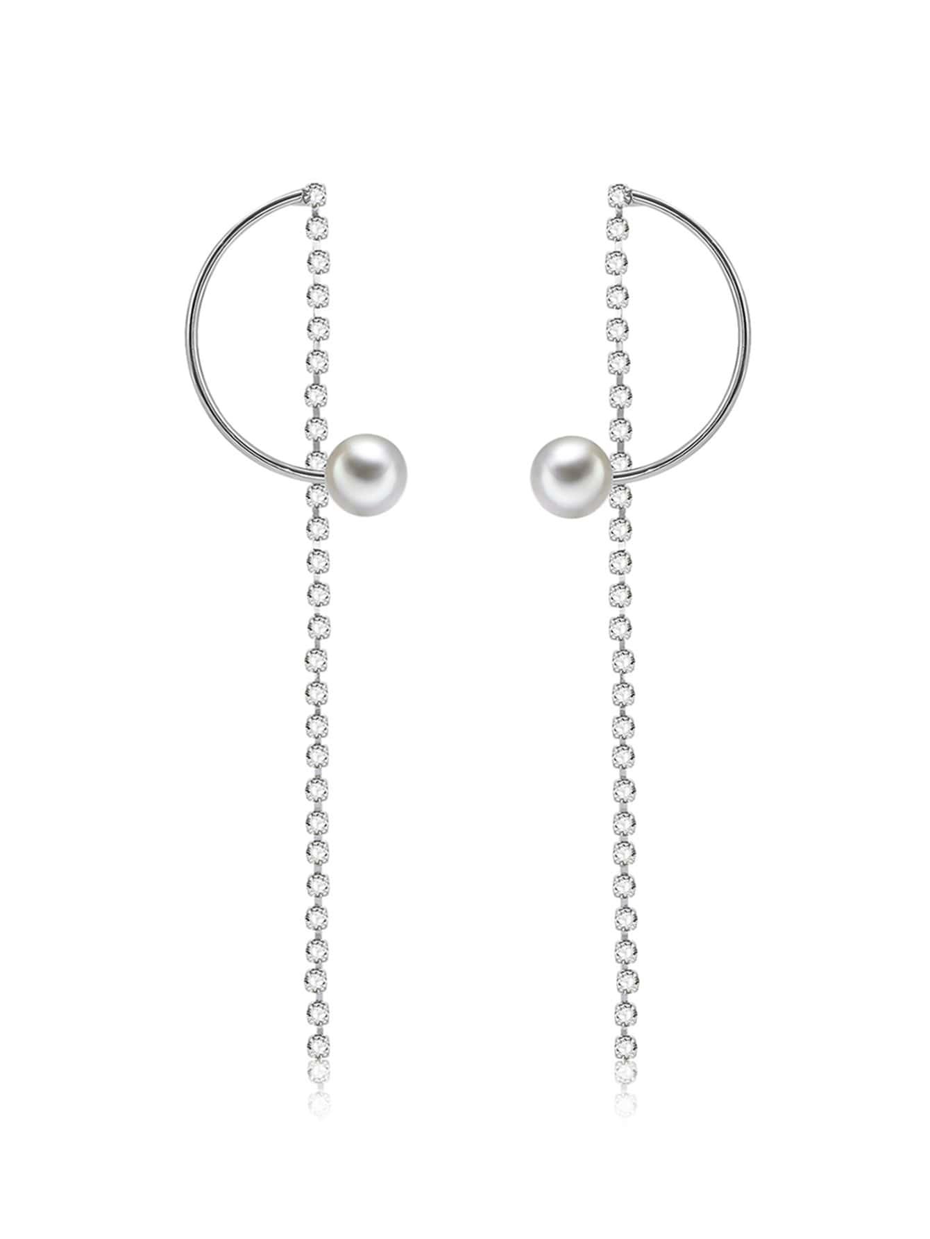 Half Circle Design Drop Earrings