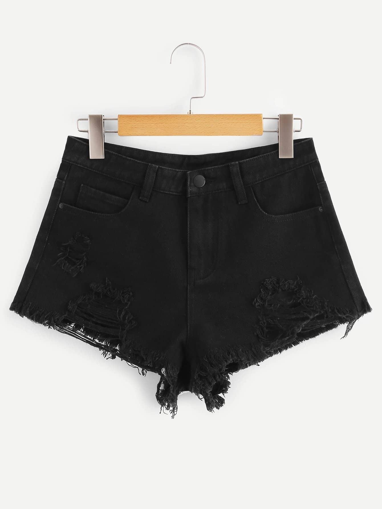 Короткие джинсовые джинсовые шорты SheIn