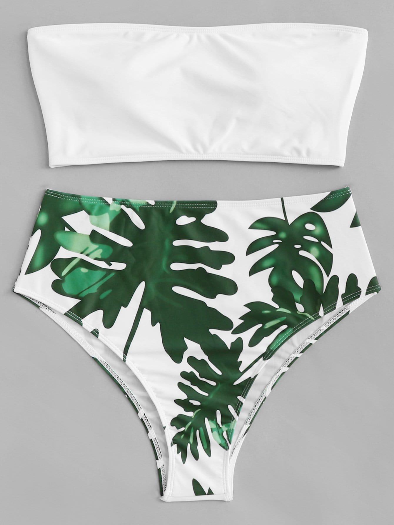 Купить Плюс Комплект для печати бикини Palm, null, SheIn