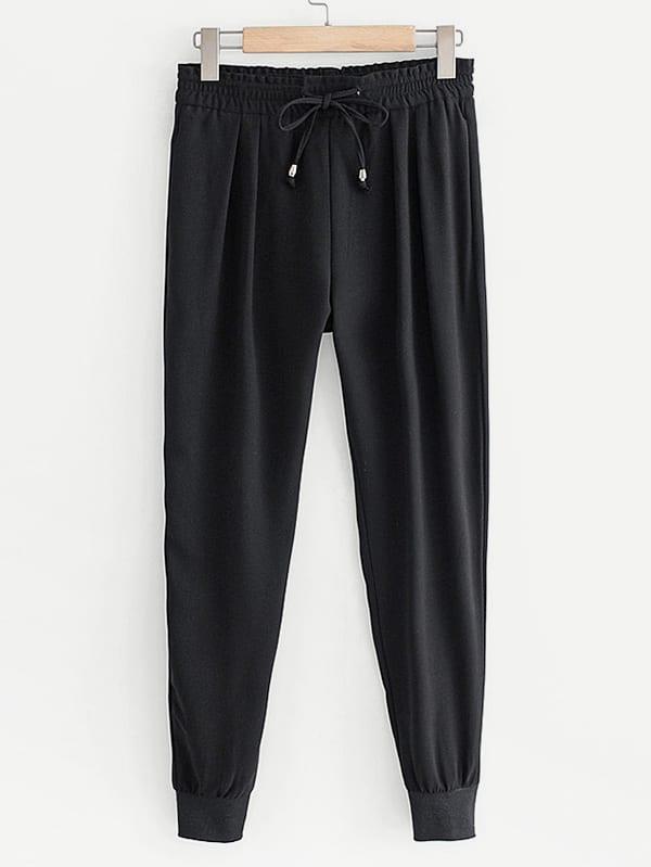Купить Конические брюки и с басоном эластичным, null, SheIn