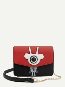 Robot Design Flap Crossbody Bag