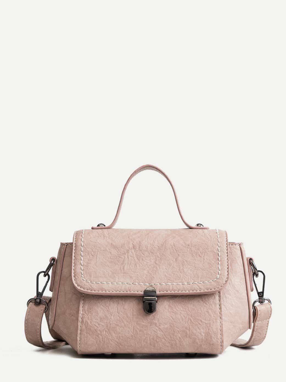 Push Lock Flap Grab Bag buckle detail flap grab bag