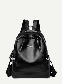 Pebble Detail PU Backpack