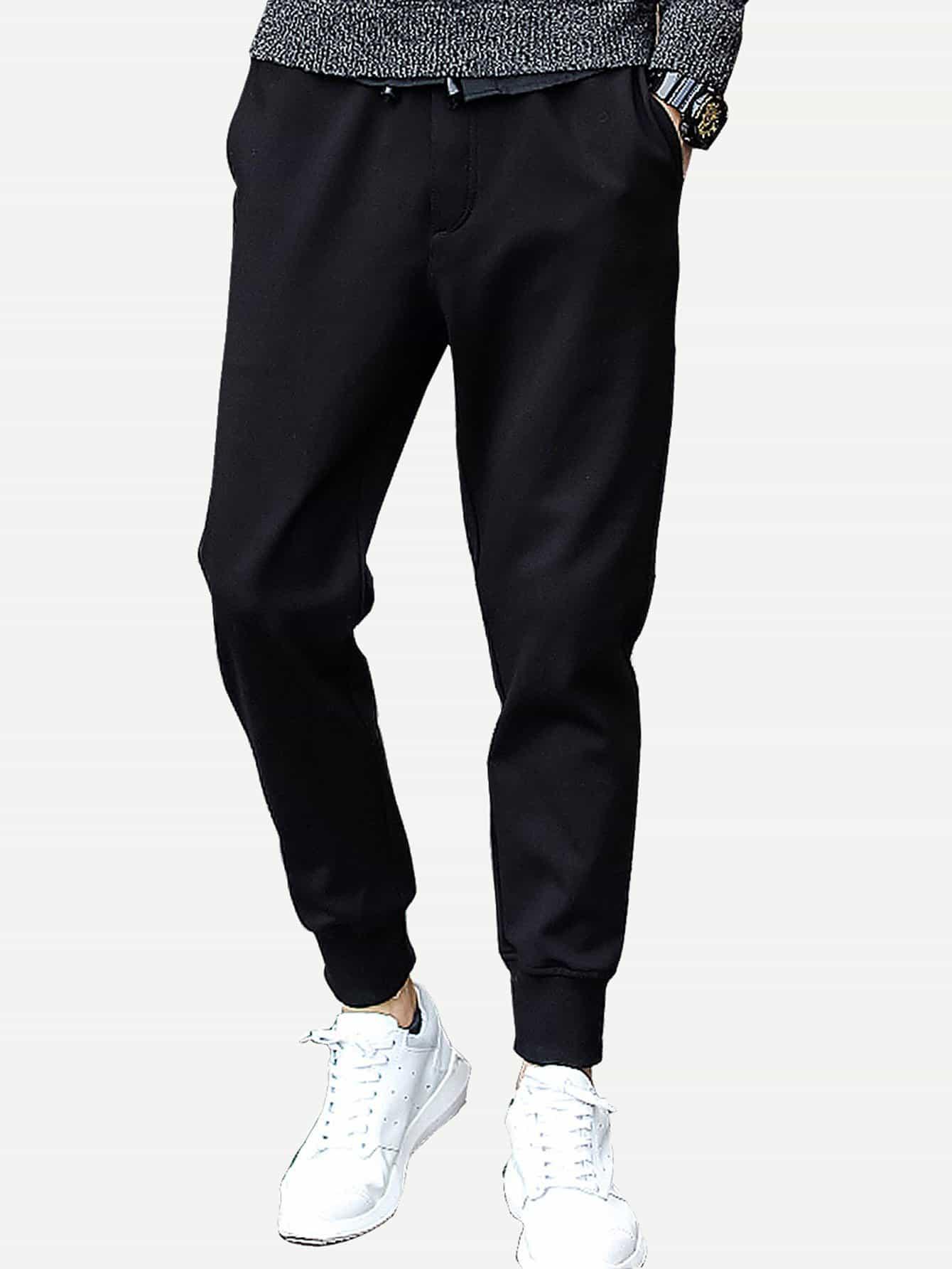 Купить Простые брюки с басоном эластичным для мужчины, null, SheIn