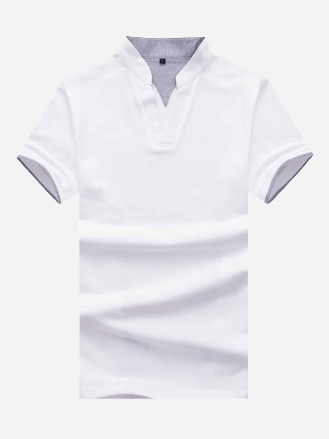 Men Ringer V Neck Polo Shirt ralf ringer ботинки