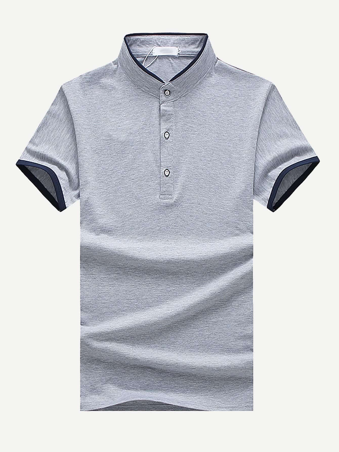Men Ringer Polo Shirt roamer часы roamer 941 637 41 53 90 коллекция saturn