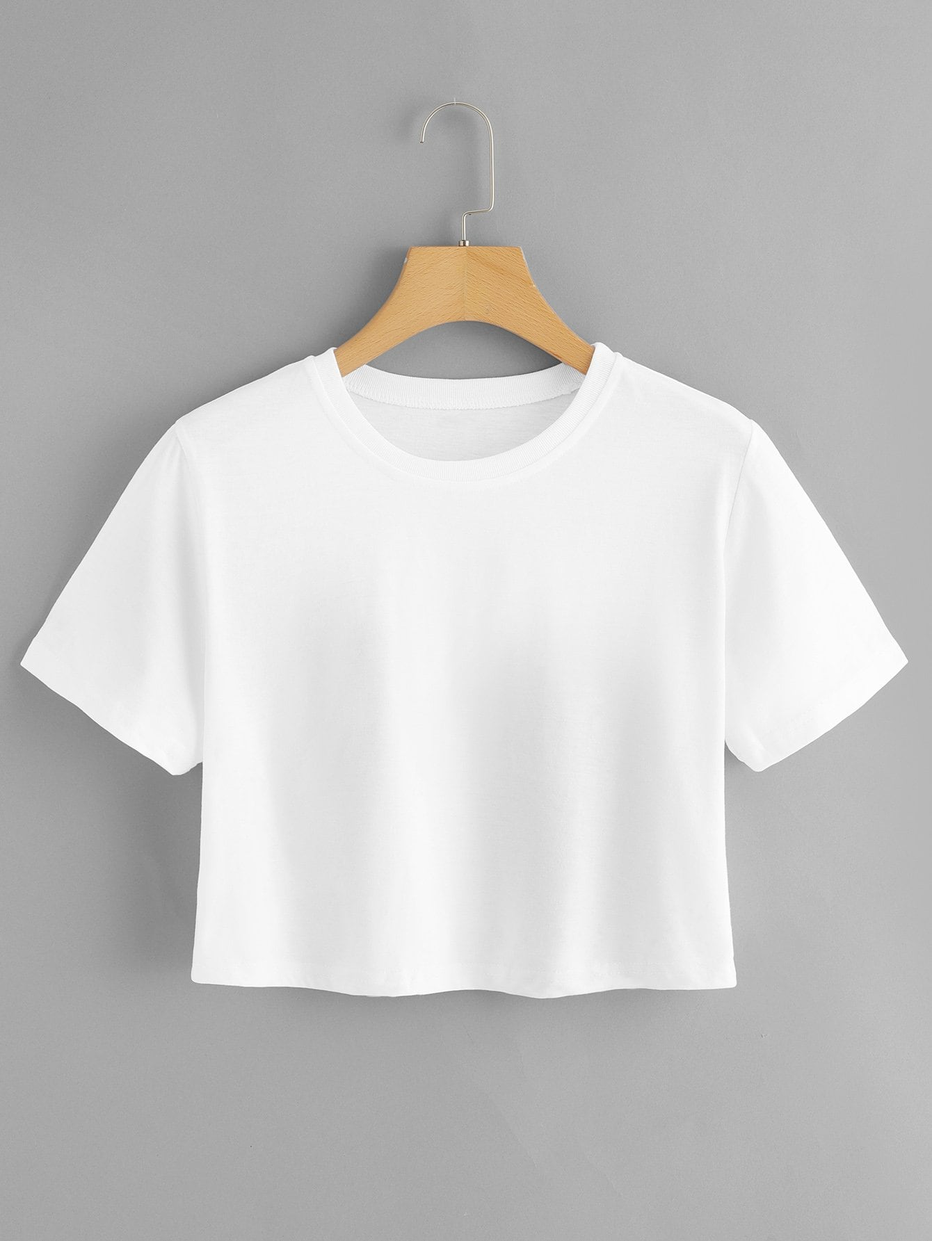 Solid Basic Crop Tee
