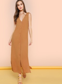 Button Up Maxi Dress