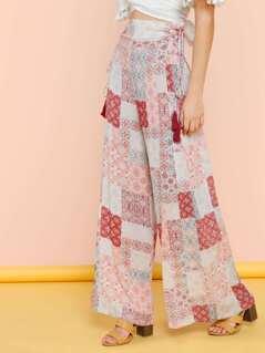 Tile Printed Pants