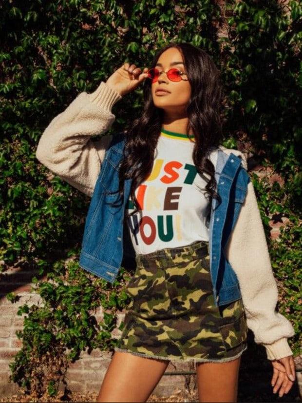 Купить Воротник из флиса и джинсовая куртка, Noelle Brown, SheIn