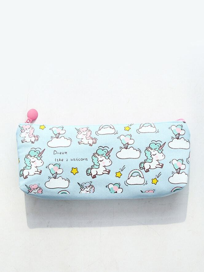 Unicorn Print Pencil Case