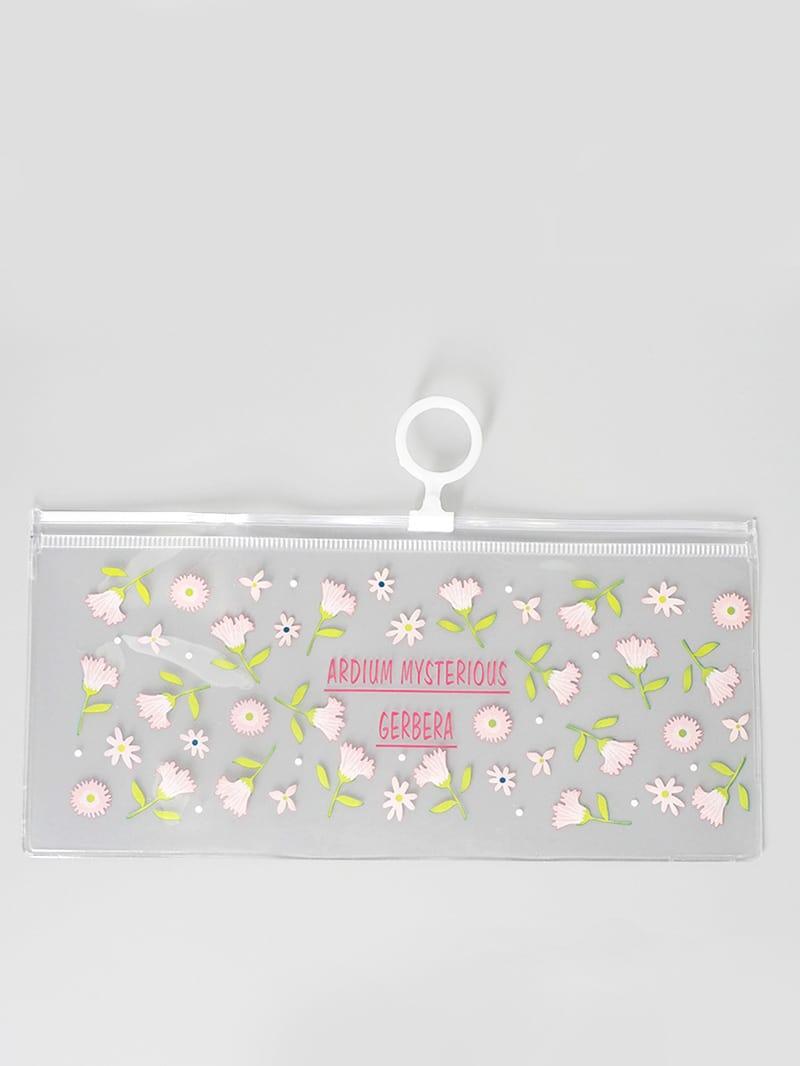 Купить Прозрачный пенал с рисунками цветов, null, SheIn