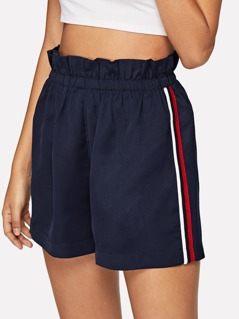 Frill Trim Striped Side Shorts