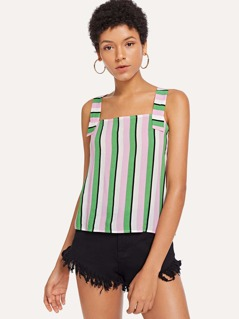 Colorful Striped Print Top