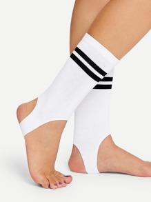 Striped Stirrup Socks