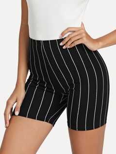 Striped Print Cycling Shorts