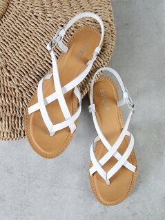 Strappy Sling Back Thong Sandal